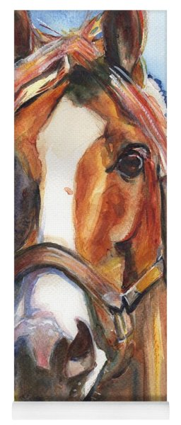 Horse Painting Of California Chrome Go Chrome Yoga Mat