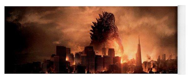 Godzilla 2014 Yoga Mat