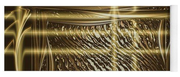 Gold Chrome Abstract Yoga Mat