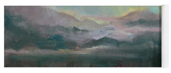 Gold Lining - Chugach Mountain Range En Plein Air Yoga Mat
