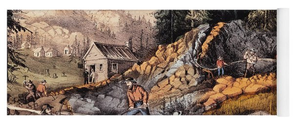 Gold Mining In California Yoga Mat