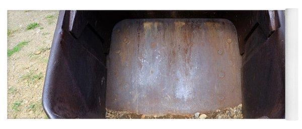 Gold Mining Steam Shovel Bucket Close-up Yoga Mat