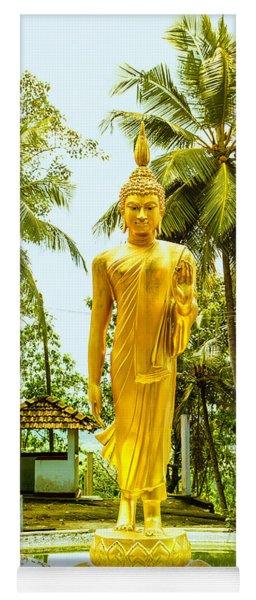 Golden Buddha On A Lotus Flower Yoga Mat