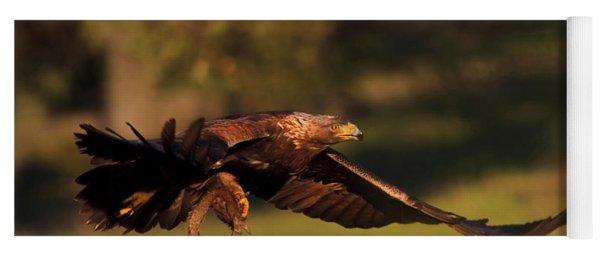 Golden Eagle On The Hunt Yoga Mat