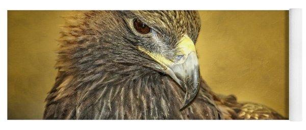 Golden Eagle Portrait Yoga Mat