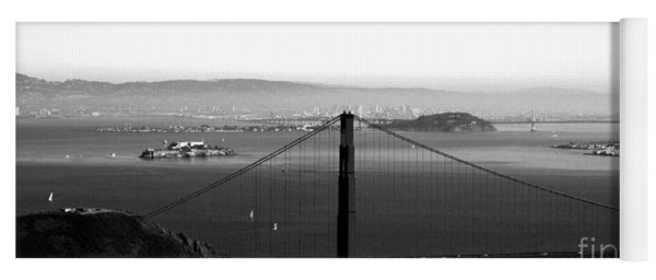 Golden Gate And Bay Bridges Yoga Mat
