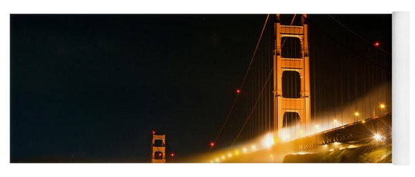 Golden Gate Bridge At Night In The Fog Yoga Mat