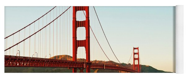 Yoga Mat featuring the photograph Golden Gate Bridge At Sunset by Todd Aaron