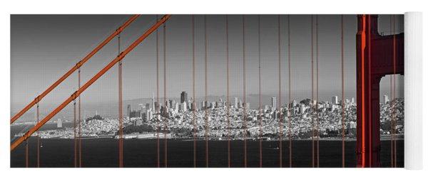 Golden Gate Bridge Panoramic Downtown View Yoga Mat