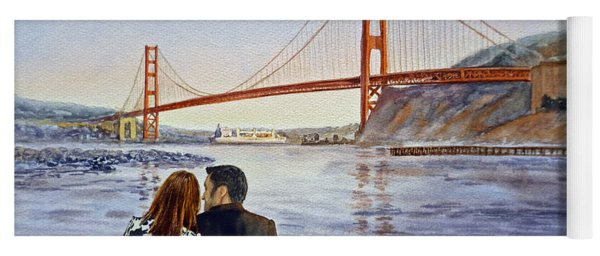 Golden Gate Bridge San Francisco - Two Love Birds Yoga Mat