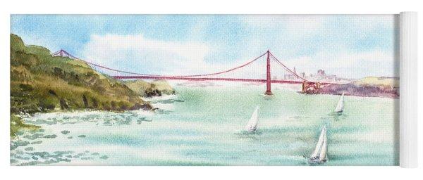 Golden Gate Bridge View From Point Bonita Yoga Mat