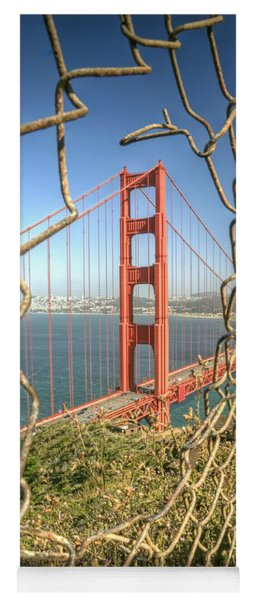 Golden Gate Through The Fence Yoga Mat