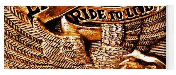 Golden Harley Davidson Logo Yoga Mat