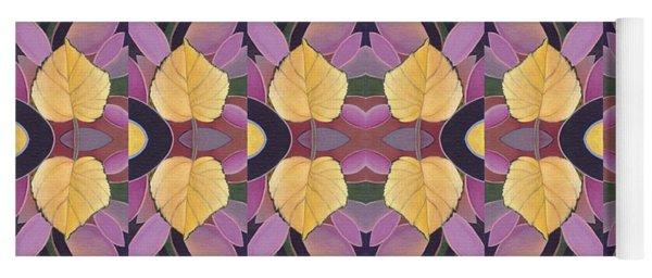 Golden - Leaves And Petals Yoga Mat