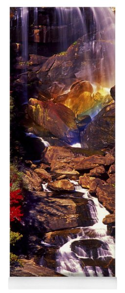 Golden Rainbow Yoga Mat