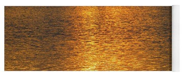 Golden Summer Sunset Yoga Mat