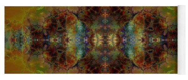 Golden Tapestry Yoga Mat