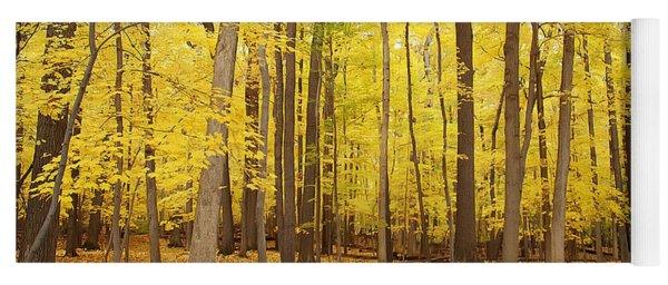 Golden Woods Yoga Mat