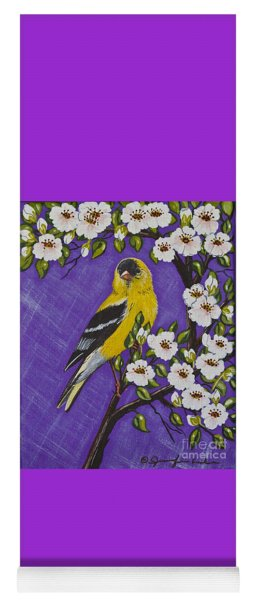 Goldfinch In Pear Blossoms Yoga Mat