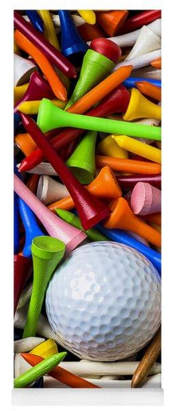 Golf Ball And Tees Yoga Mat