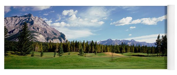 Golf Course Banff Alberta Canada Yoga Mat
