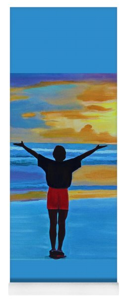 Yoga Mat featuring the painting Good Morning Morning by Deborah Boyd