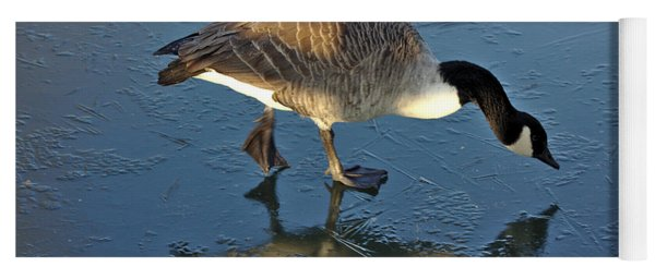 Goose On Ice Yoga Mat