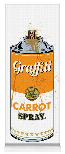 Graffiti Carrot Spray Can Yoga Mat