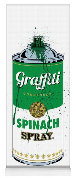 Graffiti Spinach Spray Can Yoga Mat