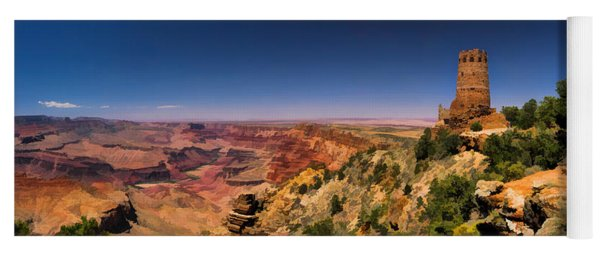 Grand Canyon Desert View Watchtower Panorama Yoga Mat