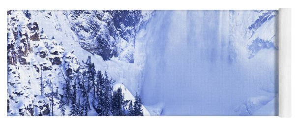 Yoga Mat featuring the photograph Grand Canyon Of The Yellowstone Yellowstone National Park Wyoming by Dave Welling