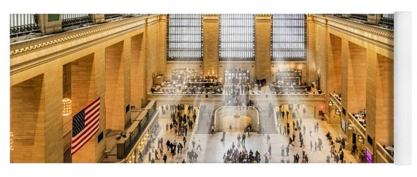 Grand Central Terminal Birds Eye View I Yoga Mat