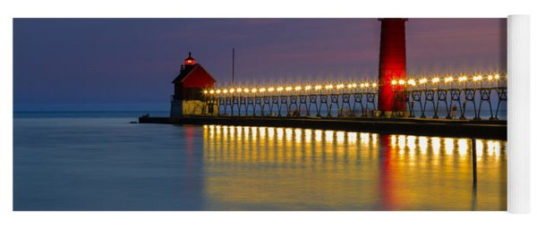 Grand Haven South Pier Lighthouse Yoga Mat