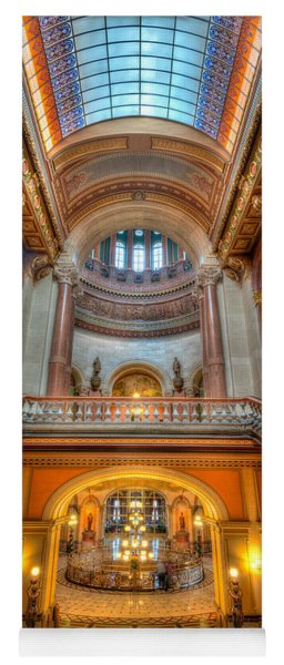 Grand Staircase Illinois State Capitol Yoga Mat