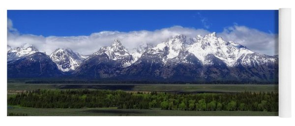 Grand Teton National Park Panorama Yoga Mat