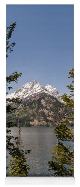 Grand Teton On Jenny Lake - Grand Teton National Park Wyoming Yoga Mat