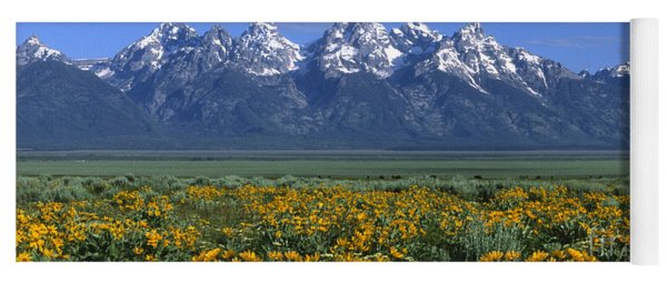Grand Teton Summer Yoga Mat