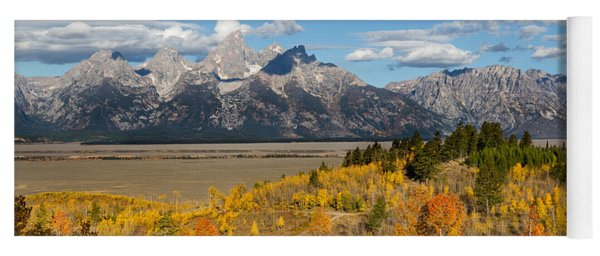 Grand Tetons In Autumn Yoga Mat