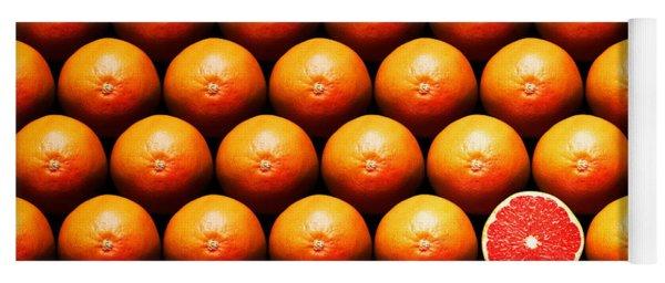 Grapefruit Slice Between Group Yoga Mat