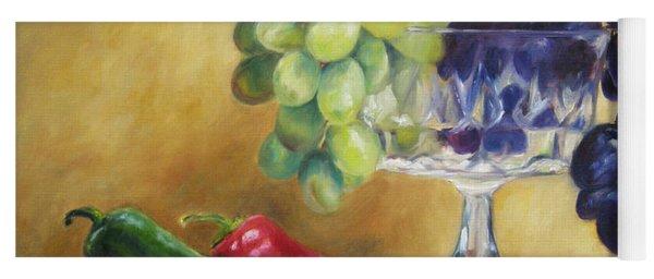 Grapes And Jalapenos Yoga Mat