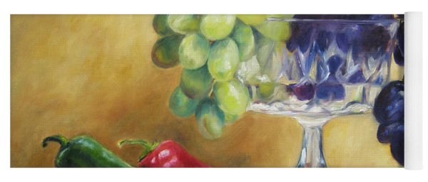 Grapes And Jalapenos Yoga Mat