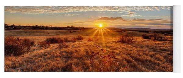 Grassland Sunset Yoga Mat