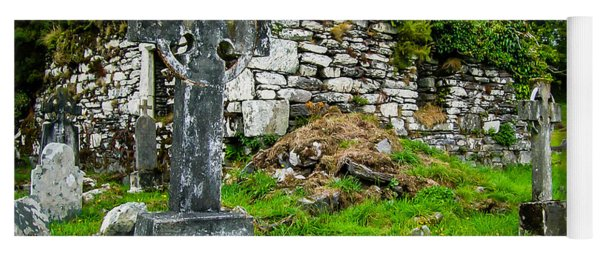 Graveyard And Church Ruins On Ireland's Mizen Peninsula Yoga Mat