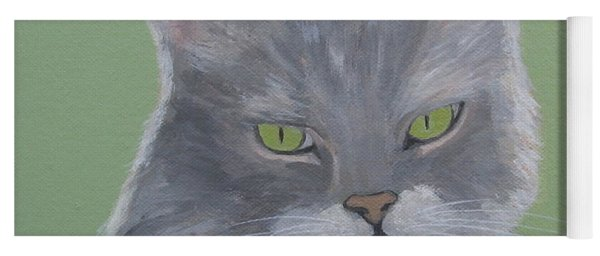 Cat With Green Eyes  Yoga Mat