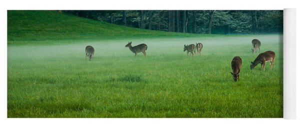 Grazing Deer Yoga Mat