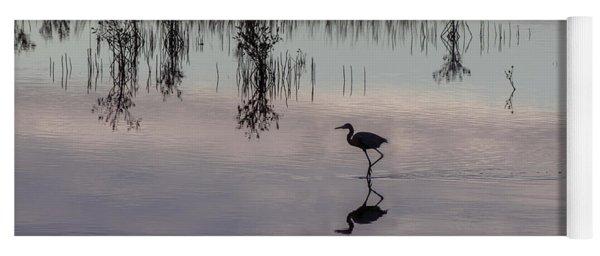 Great Blue Heron At Sundown Yoga Mat