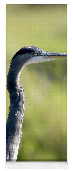 Great Blue Heron Backlit Yoga Mat