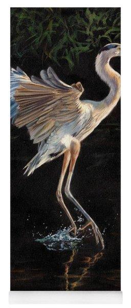 Great Blue Heron Yoga Mat