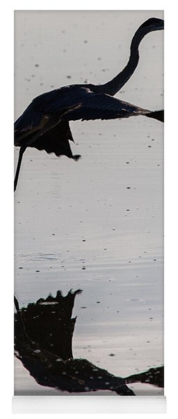 Great Blue Heron Takeoff Yoga Mat