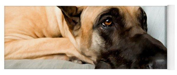 Great Dane Dog On Sofa Yoga Mat